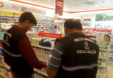 Procon Aracaju fiscaliza farmácias da capital
