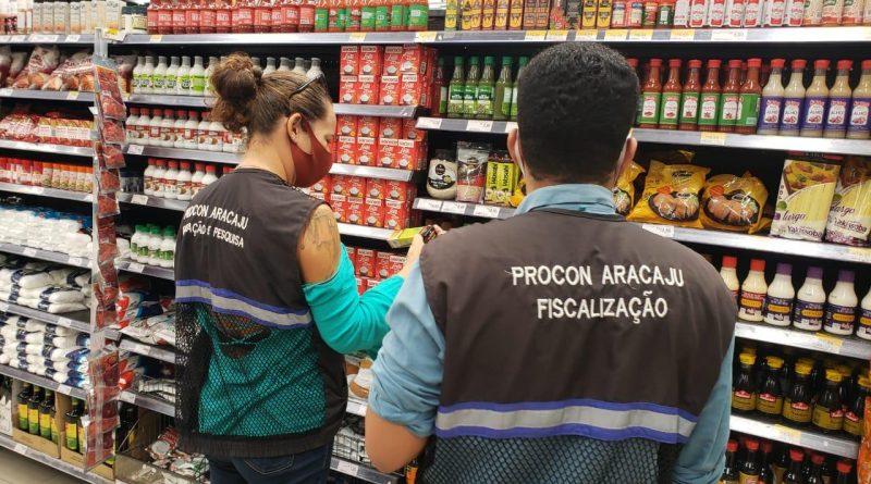 Procon Aracaju_Fiscalização em supermercados